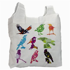 Birds Colorful Floral Funky Recycle Bag (one Side)