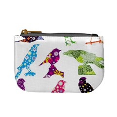 Birds Colorful Floral Funky Mini Coin Purses