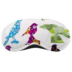 Birds Colorful Floral Funky Sleeping Masks