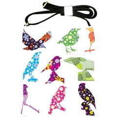 Birds Colorful Floral Funky Shoulder Sling Bags