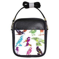 Birds Colorful Floral Funky Girls Sling Bags