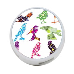 Birds Colorful Floral Funky 4 Port Usb Hub (two Sides)