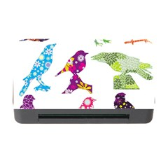 Birds Colorful Floral Funky Memory Card Reader with CF