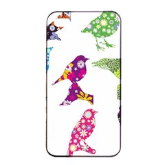 Birds Colorful Floral Funky Apple Iphone 4/4s Seamless Case (black)