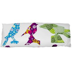 Birds Colorful Floral Funky Body Pillow Case (dakimakura)