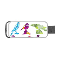 Birds Colorful Floral Funky Portable Usb Flash (one Side)