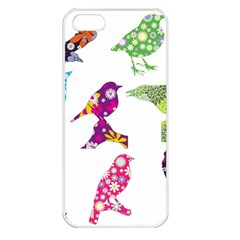 Birds Colorful Floral Funky Apple Iphone 5 Seamless Case (white)