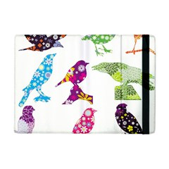 Birds Colorful Floral Funky Apple Ipad Mini Flip Case