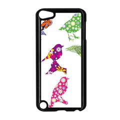 Birds Colorful Floral Funky Apple Ipod Touch 5 Case (black)
