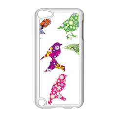 Birds Colorful Floral Funky Apple Ipod Touch 5 Case (white)