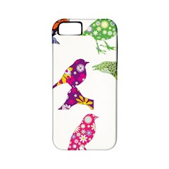 Birds Colorful Floral Funky Apple Iphone 5 Classic Hardshell Case (pc+silicone)