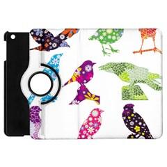 Birds Colorful Floral Funky Apple Ipad Mini Flip 360 Case