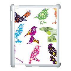 Birds Colorful Floral Funky Apple iPad 3/4 Case (White)