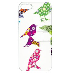 Birds Colorful Floral Funky Apple Iphone 5 Hardshell Case With Stand