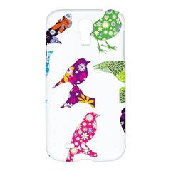 Birds Colorful Floral Funky Samsung Galaxy S4 I9500/i9505 Hardshell Case