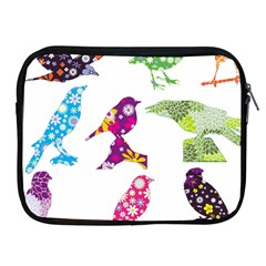 Birds Colorful Floral Funky Apple Ipad 2/3/4 Zipper Cases