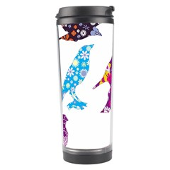 Birds Colorful Floral Funky Travel Tumbler