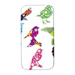 Birds Colorful Floral Funky Samsung Galaxy S4 I9500/I9505  Hardshell Back Case Front