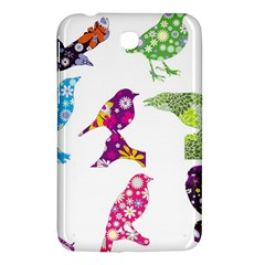 Birds Colorful Floral Funky Samsung Galaxy Tab 3 (7 ) P3200 Hardshell Case