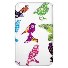 Birds Colorful Floral Funky Samsung Galaxy Tab 3 (8 ) T3100 Hardshell Case