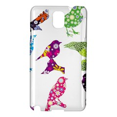 Birds Colorful Floral Funky Samsung Galaxy Note 3 N9005 Hardshell Case