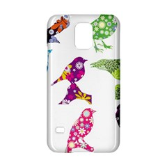 Birds Colorful Floral Funky Samsung Galaxy S5 Hardshell Case