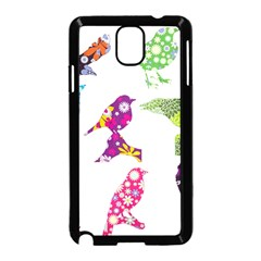 Birds Colorful Floral Funky Samsung Galaxy Note 3 Neo Hardshell Case (black)