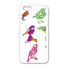 Birds Colorful Floral Funky Apple Iphone 6/6s White Enamel Case