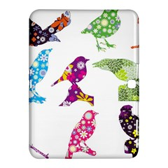 Birds Colorful Floral Funky Samsung Galaxy Tab 4 (10.1 ) Hardshell Case