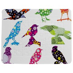 Birds Colorful Floral Funky Jigsaw Puzzle Photo Stand (rectangular)