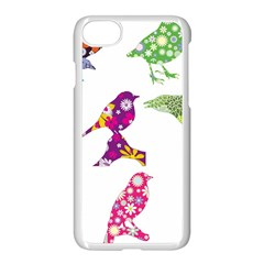 Birds Colorful Floral Funky Apple Iphone 7 Seamless Case (white)