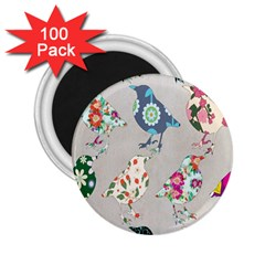 Birds Floral Pattern Wallpaper 2 25  Magnets (100 Pack)