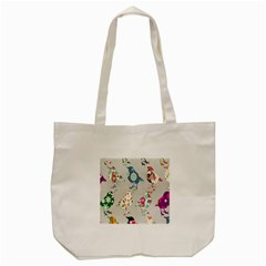 Birds Floral Pattern Wallpaper Tote Bag (cream)