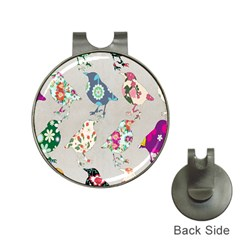 Birds Floral Pattern Wallpaper Hat Clips With Golf Markers