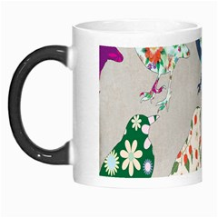 Birds Floral Pattern Wallpaper Morph Mugs