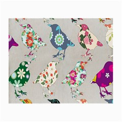 Birds Floral Pattern Wallpaper Small Glasses Cloth
