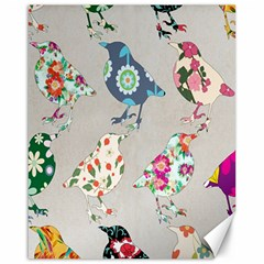 Birds Floral Pattern Wallpaper Canvas 16  X 20