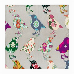 Birds Floral Pattern Wallpaper Medium Glasses Cloth