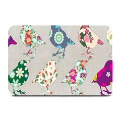 Birds Floral Pattern Wallpaper Plate Mats