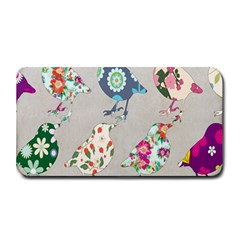 Birds Floral Pattern Wallpaper Medium Bar Mats