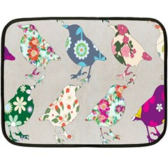 Birds Floral Pattern Wallpaper Fleece Blanket (mini)