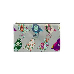 Birds Floral Pattern Wallpaper Cosmetic Bag (Small)