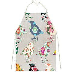 Birds Floral Pattern Wallpaper Full Print Aprons
