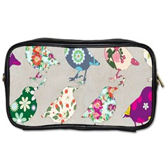 Birds Floral Pattern Wallpaper Toiletries Bags