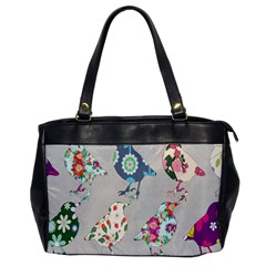Birds Floral Pattern Wallpaper Office Handbags