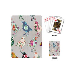 Birds Floral Pattern Wallpaper Playing Cards (mini)