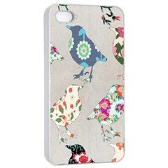 Birds Floral Pattern Wallpaper Apple Iphone 4/4s Seamless Case (white)