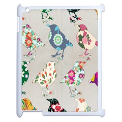 Birds Floral Pattern Wallpaper Apple Ipad 2 Case (white)