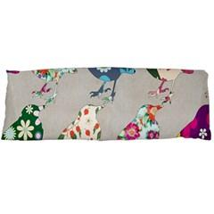 Birds Floral Pattern Wallpaper Body Pillow Case (dakimakura)