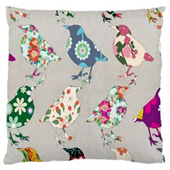 Birds Floral Pattern Wallpaper Large Cushion Case (one Side)